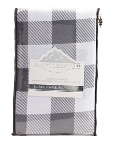 Plaid Flannel Duvet Set