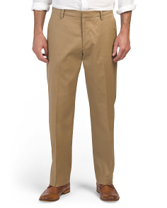 Iron Free Stretch Flat Front Pants