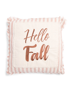 20x20 Hello Fall Cotton Pillow
