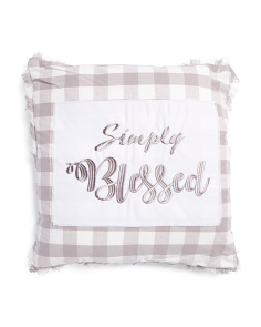 20x20 Simply Blessed Plaid Pillow