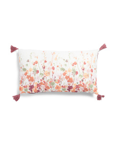 14x24 Textured Fall Floral Pillow