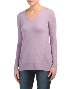 Pointelle Back & Sleeve Sweater Tunic