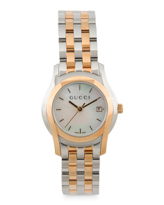Women's Swiss Made Two Tone Bracelet Watch