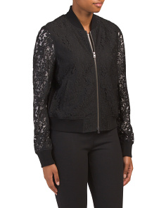 Kennadie Bomber Lace Jacket