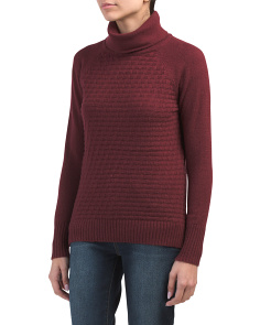 Turtleneck Textured Front Sweater
