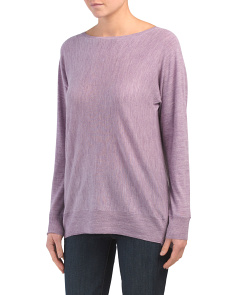 Cashfeel Boat Neck Merino Wool Sweater