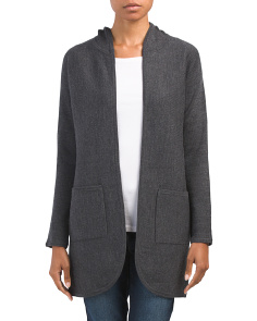 Double Knit Hooded Cardigan