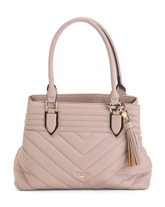 Quilted Chevron Satchel