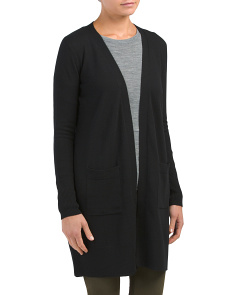 Merino Wool Duster With Pockets