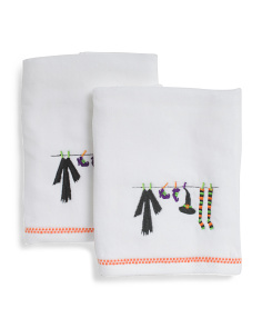 Set Of 2 Witches Wardrobe Hand Towels