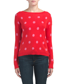 Juniors Scattered Dot Sweater