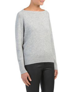 Wool Blend Boat Neck Sweater