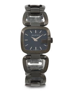 Women's Swiss Made G Bracelet Watch With Black Dial