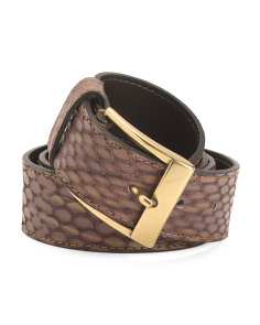 Women's Made In Italy Leather Snake Belt
