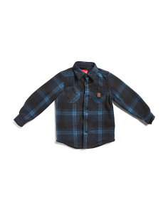 Big Boys Sherpa Bonded Fleece Shirt Jacket