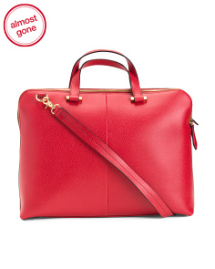 Stephanie Jamie Rfid Leather Briefcase