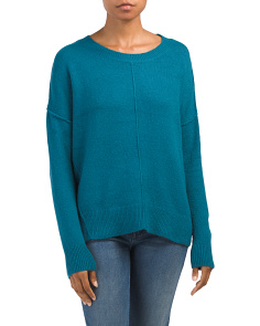 Juniors Exposed Seam Sweater