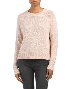 Juniors Marled Slub Sweater