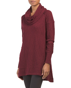 Juniors Cowl Tunic Sweater