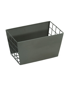Small Tapered Metal Storage Bin