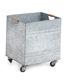 Made In India Large Galvanized Storage Crate