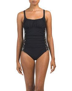 Allure Lace Side One-piece Swimsuit