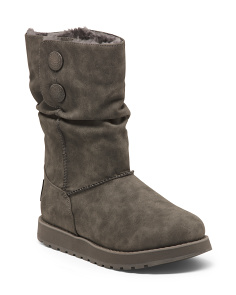 Slouchy Mid Shaft Comfort Shearling Booties