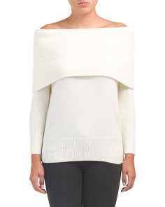 Juniors Off The Shoulder Sweater