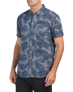 Short Sleeve Fern Print Shirt