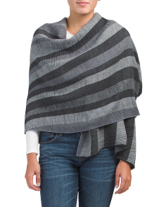 Multi Stripe Blanket Wrap