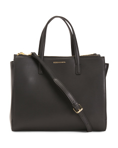 Marcelina Triple Entry Leather Tote
