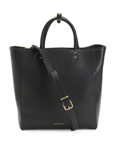 Serena North South Leather Tote