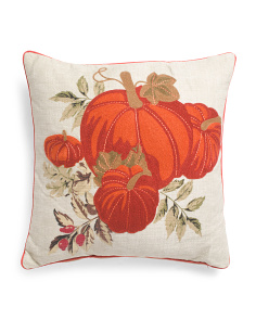 18x18 Appliqued Pumpkin Pillow