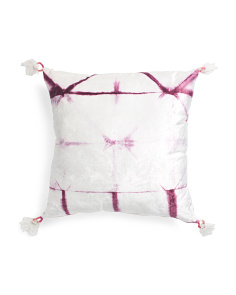 Made In India 26x26 Tie Dye Velvet Pillow