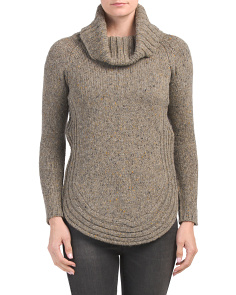 Donegal Sweater With Rounded Hem