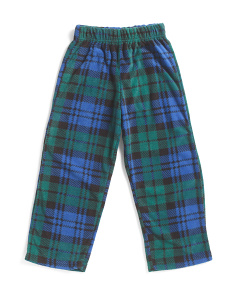 Boys Plaid Micro Fleece Sleep Pants
