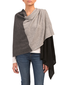 Trio Color Block Travel Cashmere Scarf