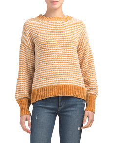 Striped Cozy Chenille Pullover Sweater