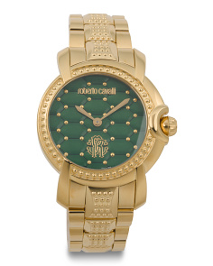 Women's Swiss Made Quilted Dial Bracelet Watch
