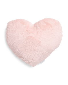 Kids Fluffy Heart Pillow