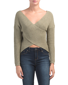 Juniors Australian Brand Criss Cross Sweater