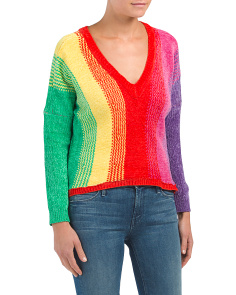 Juniors Australian Design Rainbow Knit Sweater