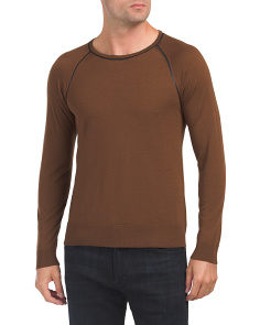 Solid Merino Wool Sweater