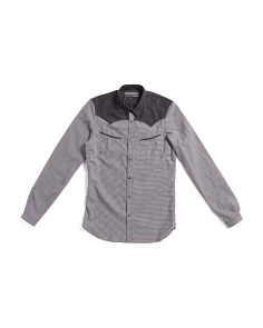 Western Carreaux Long Sleeve Shirt