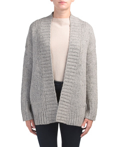Open Flecked Cardigan