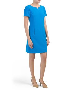 Short Sleeve Bi Stretch Dress