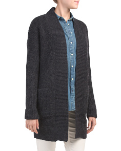 Cuffed Duster Cardigan With Pockets
