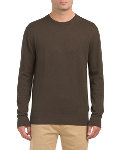 Portrait Crew Neck Wool Sweater