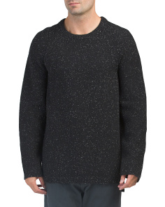 Oversized Donegal Crew Wool Sweater