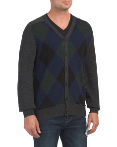 Argyle Front Lambswool Sweater